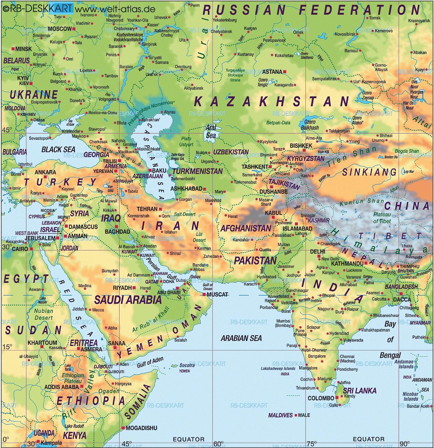 Bahrain Kort World Atlas Kort Bahrain Kort World Atlas Det