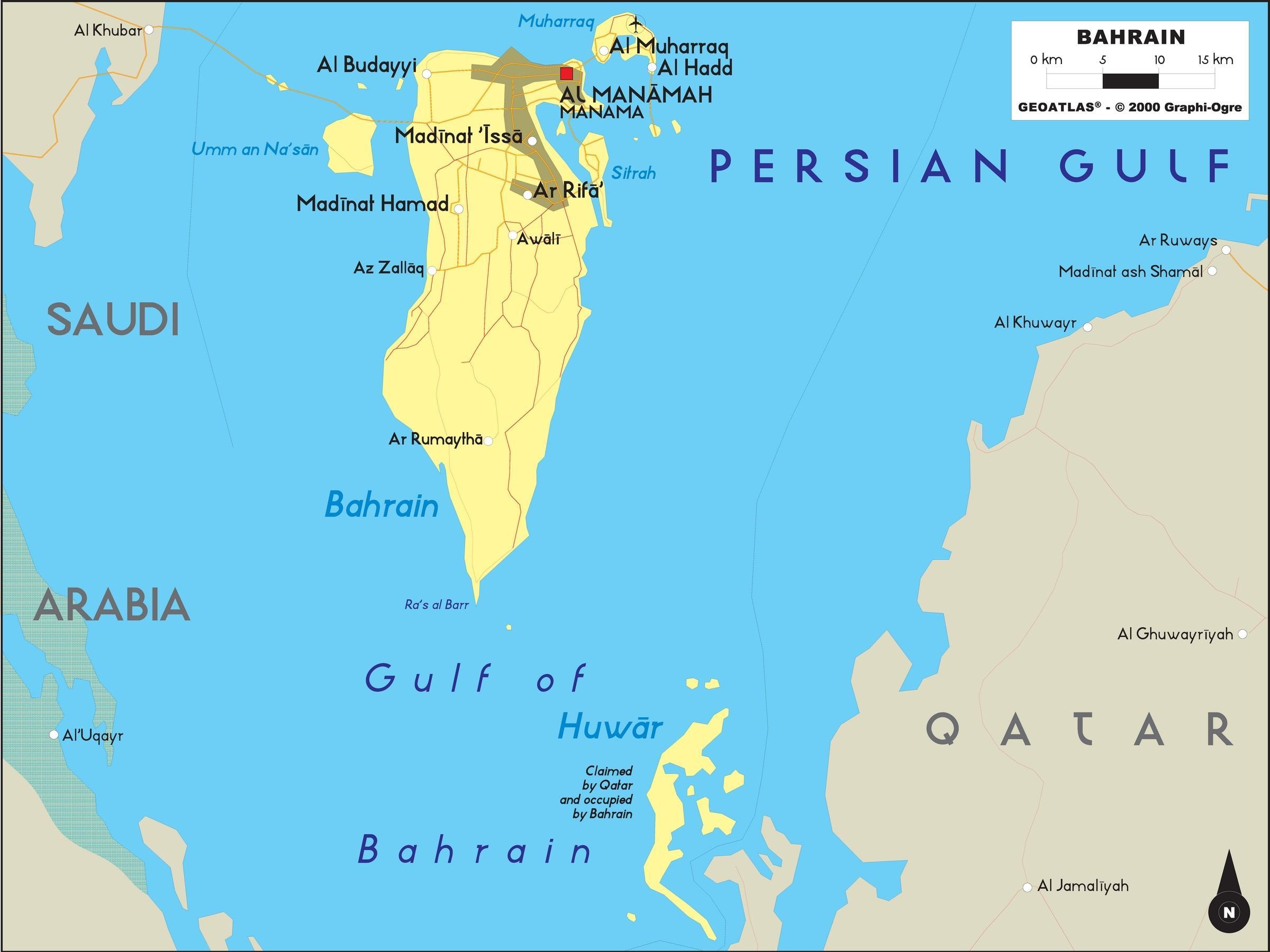 Bahrain Offline Kort Kort Over Bahrain Offline Det Vestlige