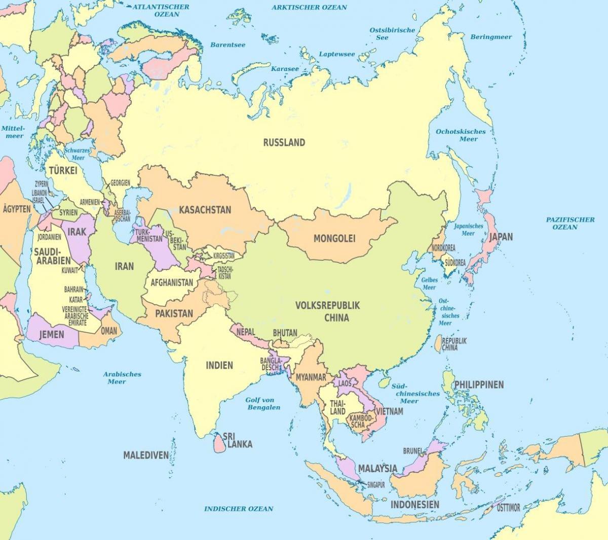 Bahrain Asien Kort Kort Over Bahrain Asien Det Vestlige Asien