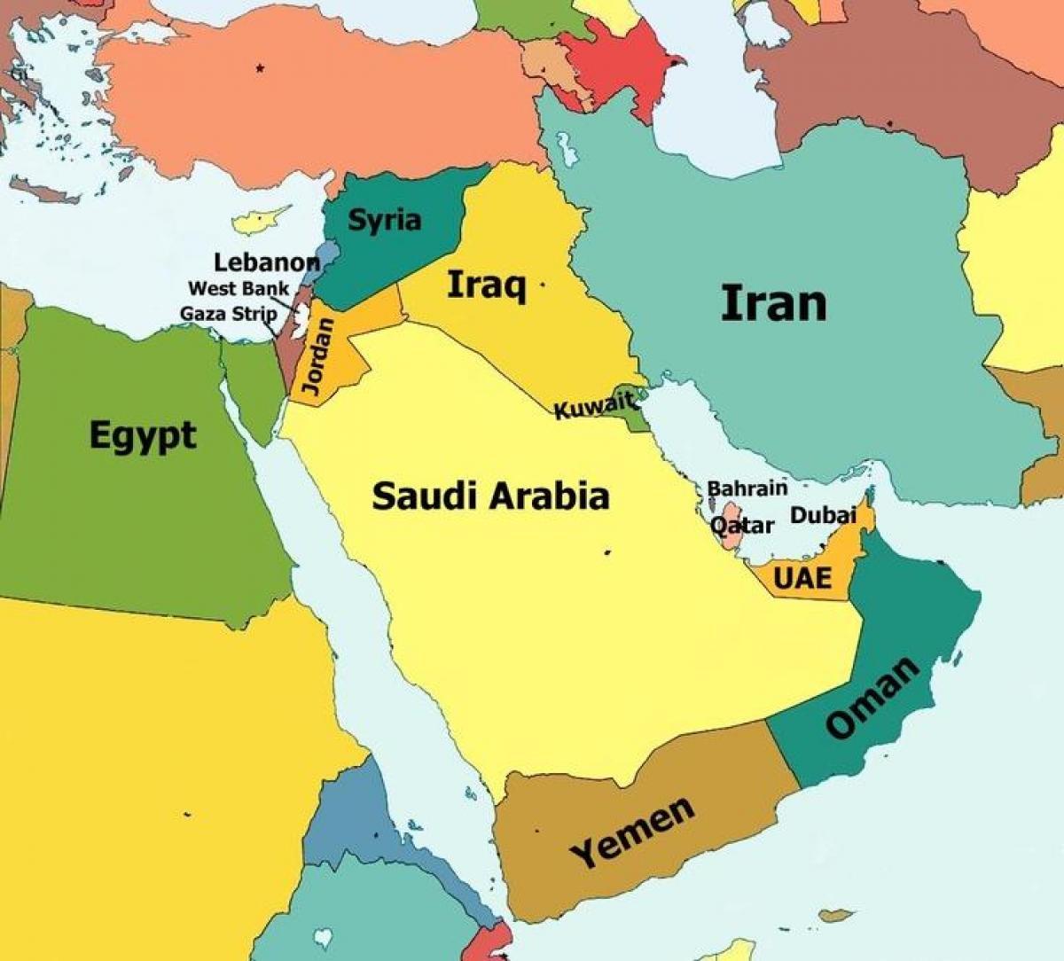 Kongeriget Bahrain Kort Kort Over Bahrain Og Det Omkringliggende